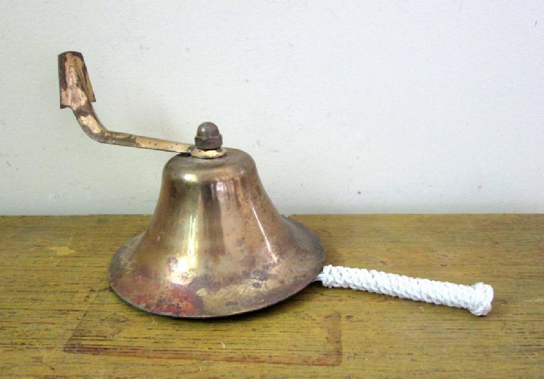 Vintage Brass Hanging Dinner Bell