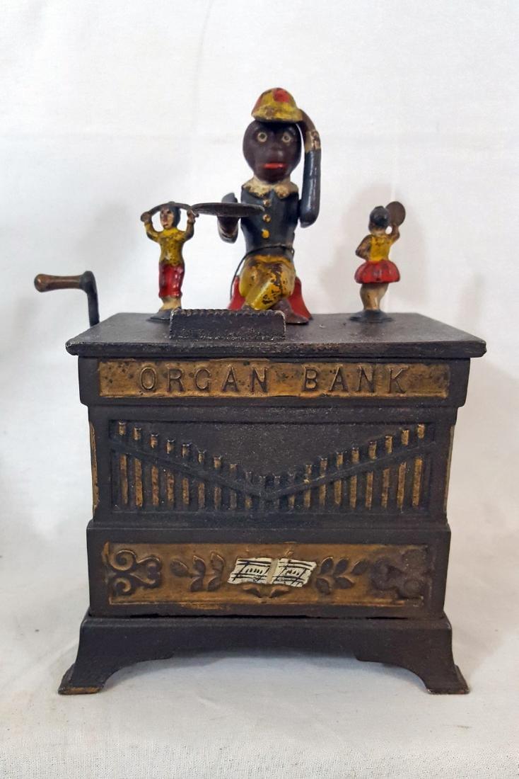 Organ Grinder Children Mechanical Bank Patent 1882