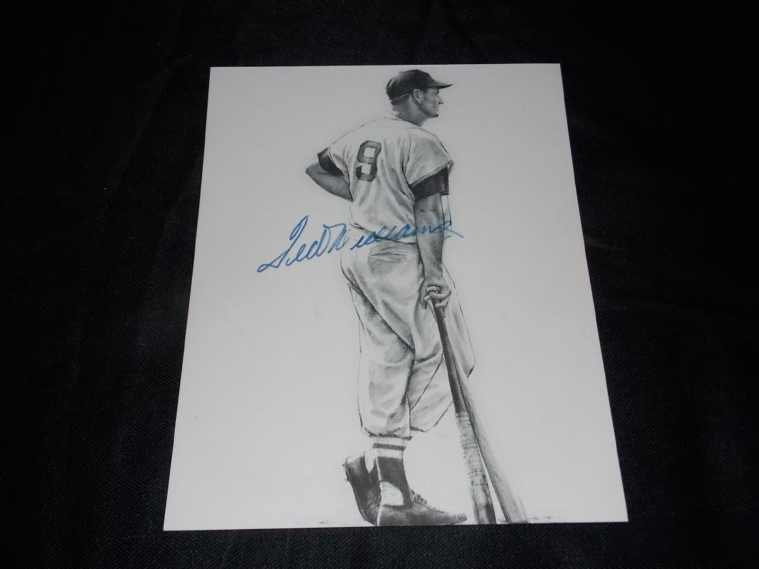 Ted Williams, Autogrpahed Photo 8x10
