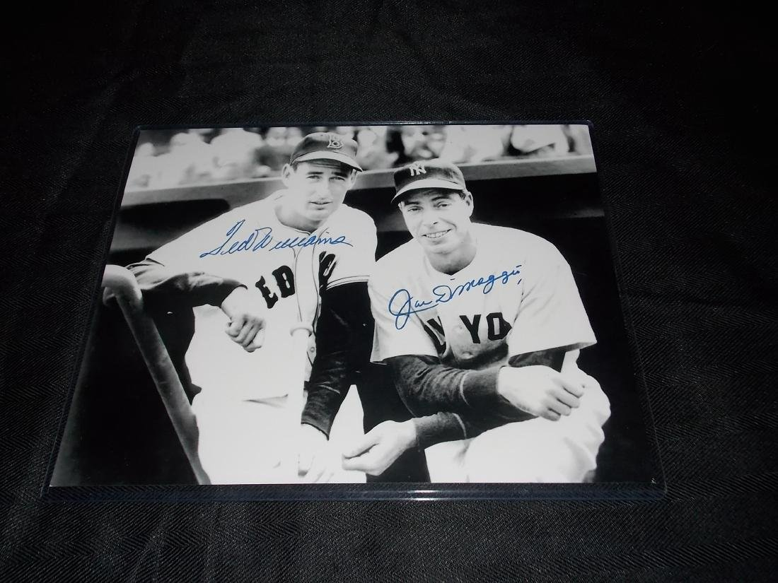 Ted Williams & Joe DiMaggio, Autographed Photo 8x10