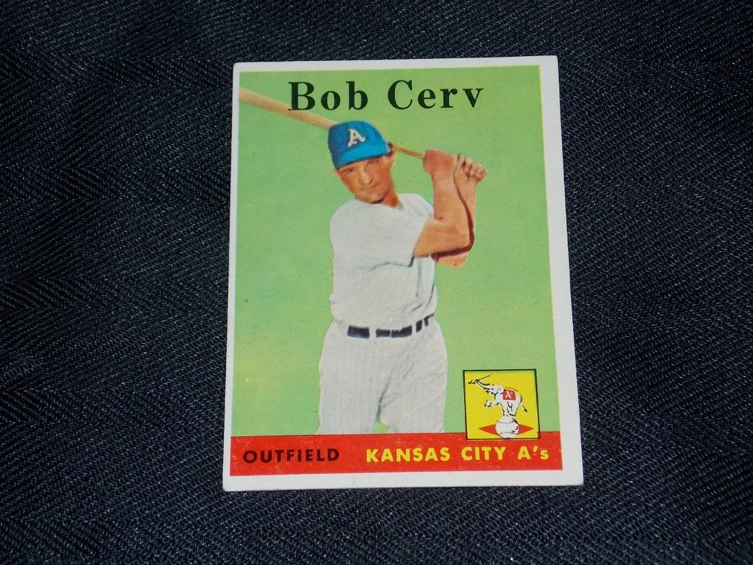 1958 Topps Bob Cerv, Kansas City A's