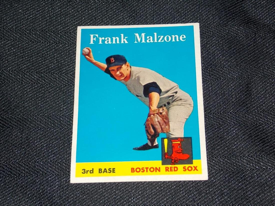 1958 Topps Frank Malzone, Boston Red Sox