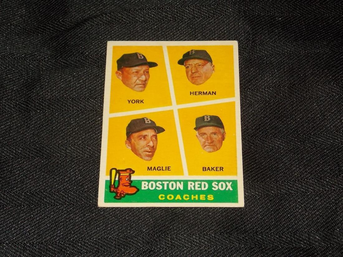 1960 Topps Boston Red Sox York Herman Maglie Baker