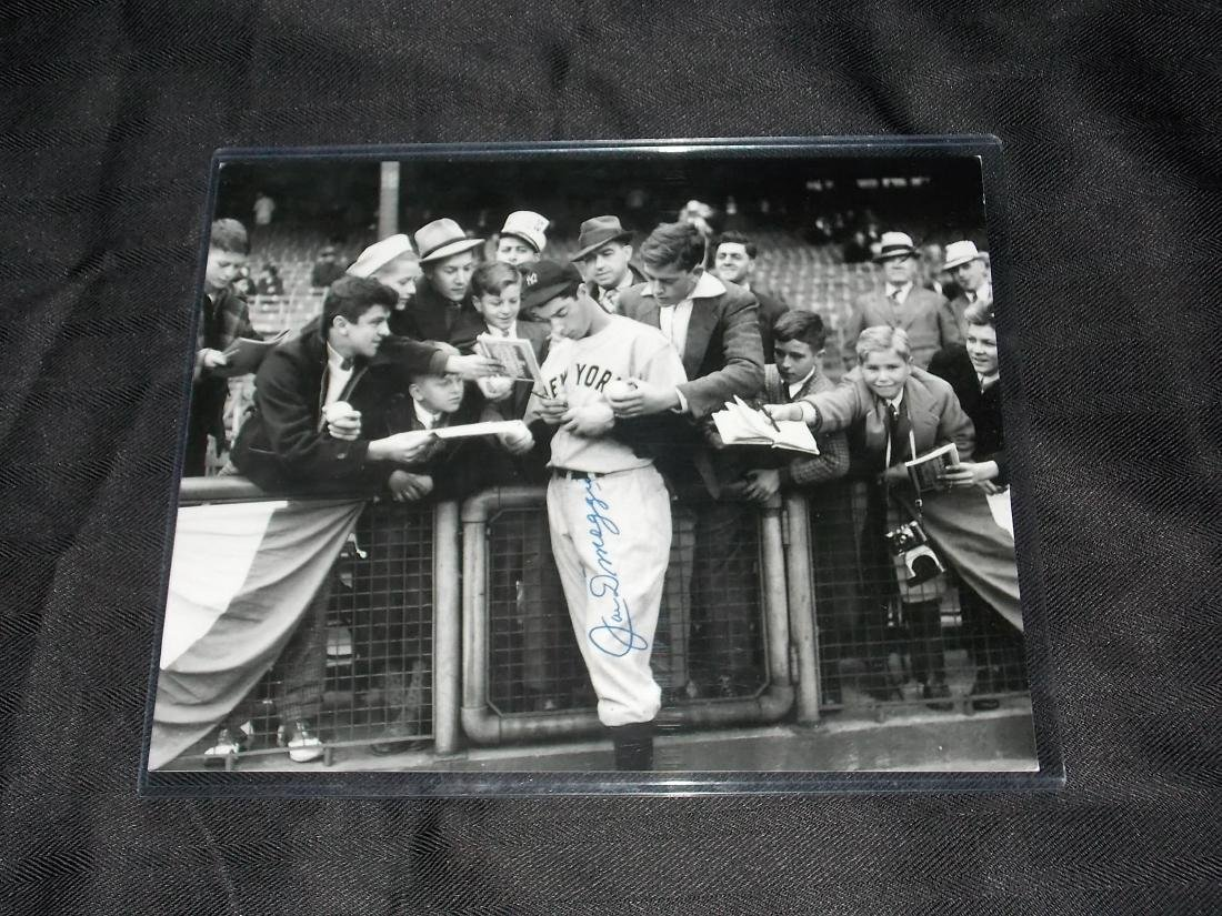 Autographed, 8x10 Photo, JOE DIMAGGIO
