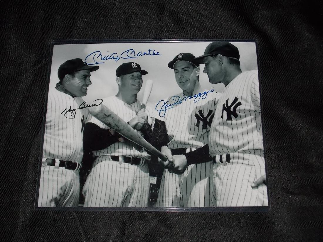 Yogi Bera, Mickey Mantle, Joe DiMaggio, Autogrpah Photo