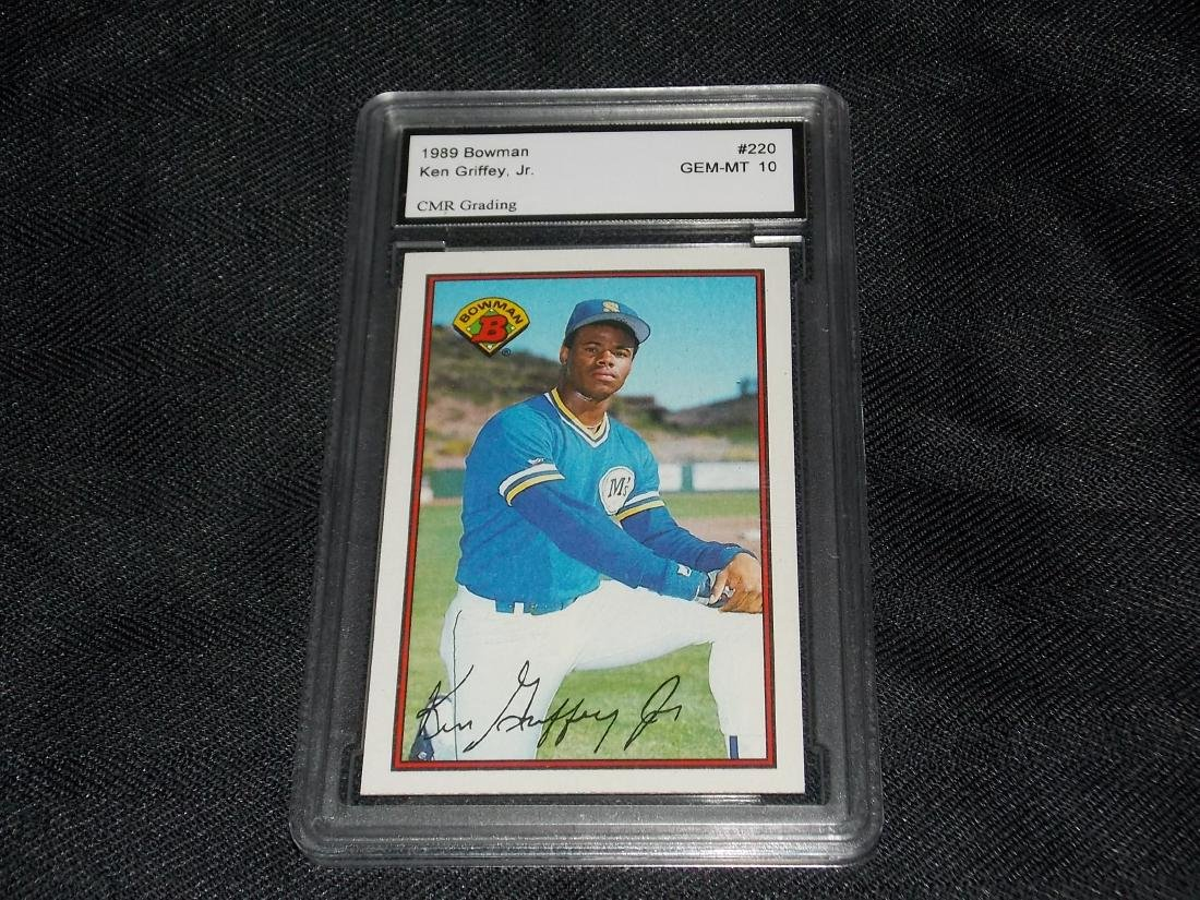 ROOKIE, 1989 Bowman, KEN GRIFFEY, JR. GRADED GEM-MT 10