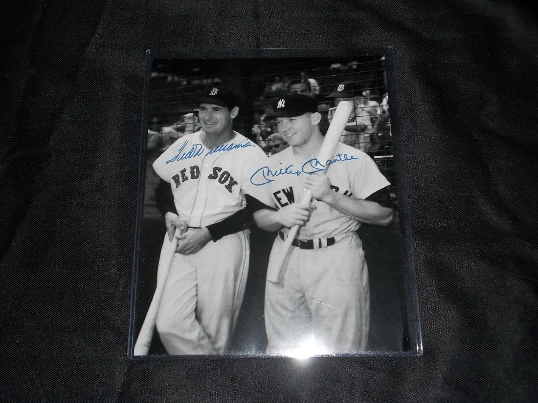 Mickey Mantle & Ted Williams, Autographed 8x10 Photo