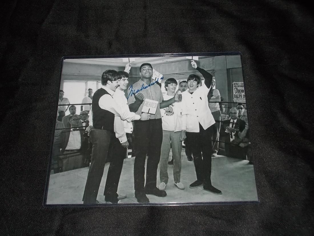 Muhammad Ali, Autographed 8x10 Photo & the Beatles