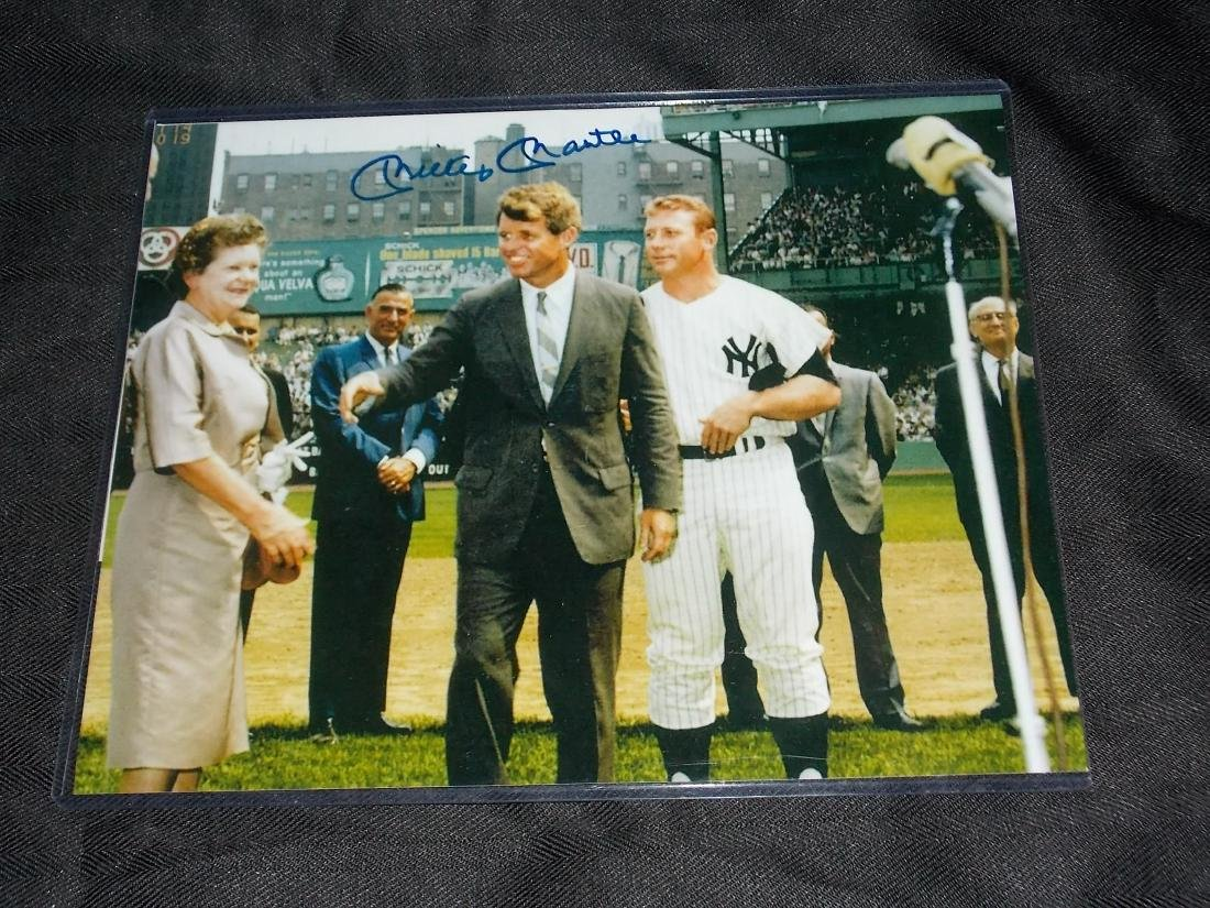 Autographed 8x10 Photo, Mickey Mantle