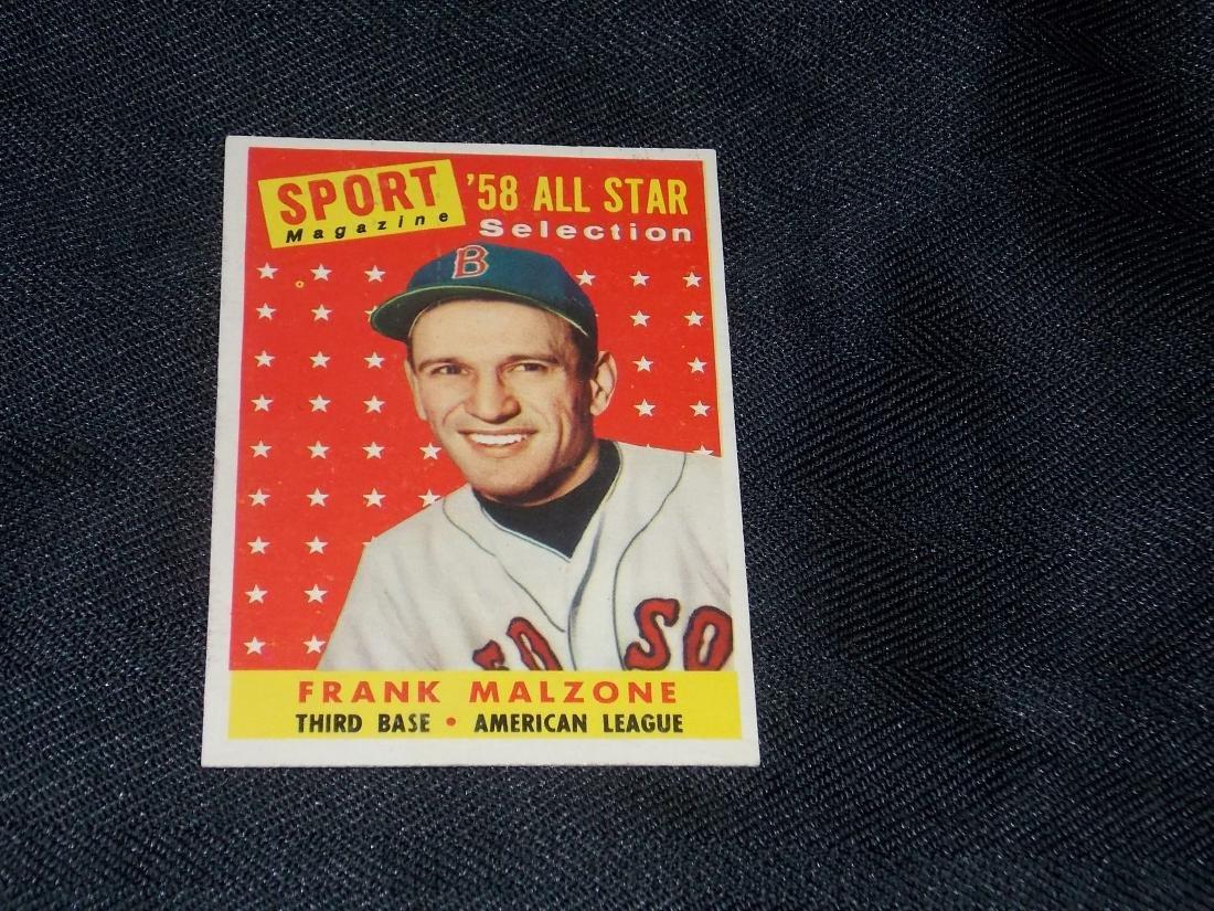 1958 Topps ALL STAR, Frank Malzone, Boston Red Sox
