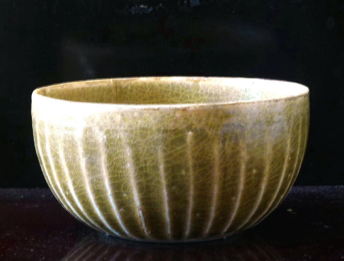 Sung Period / Olive Green Glazed Celadon Bowl
