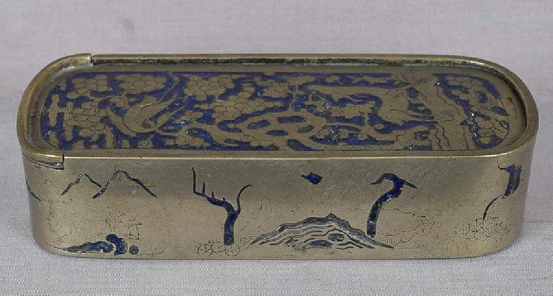 18/19th Century Chinese Paktong Champleve Scholar's Box