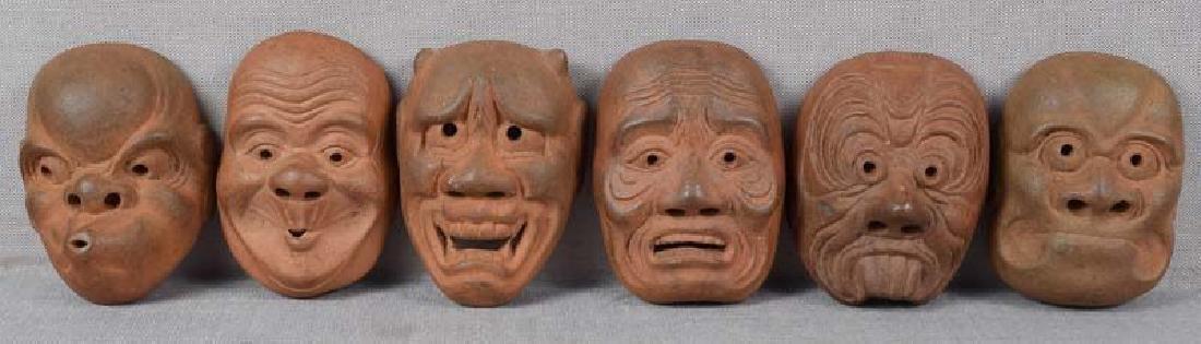 Six 19th Century Netsuke Theatrical Masks