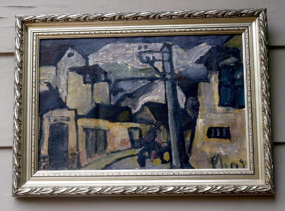 Mid Century Oil Painting by Bùi Xuân Phái Vietnamese