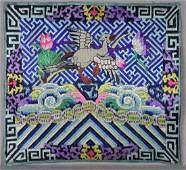 19th Century Chinese Textile 5th Rank Badge Mandarin
