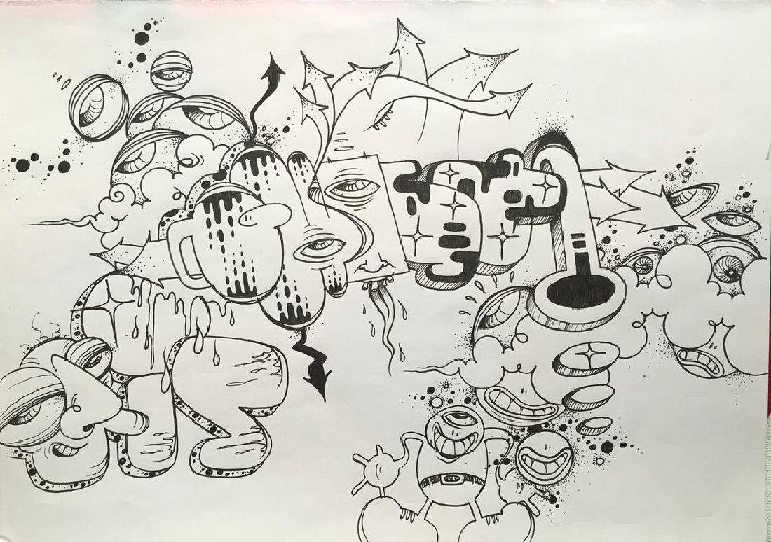 """GHOST """"Untitled"""" Black book Drawing"""