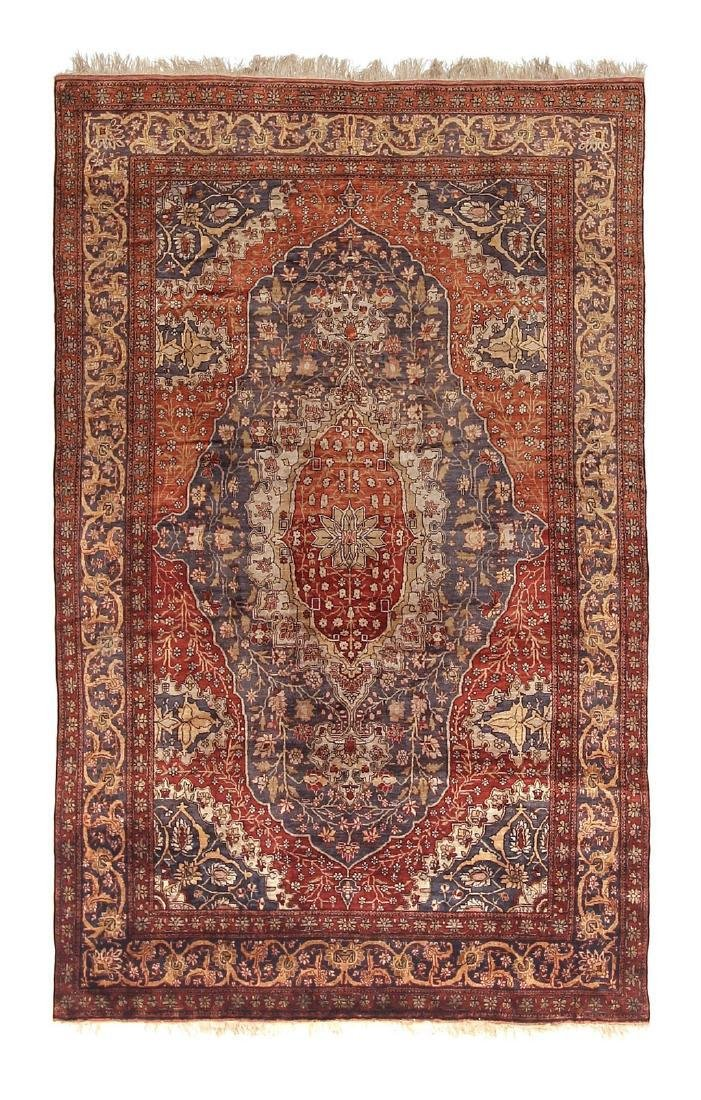 Antique Silk Persian Farahan Rug Mohtasham 4.4x6.10