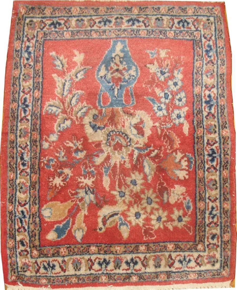 Antique Persian Sarouk Kashan Nain Rug 1.4x1.8