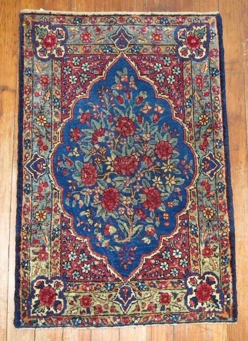 Antique Persian Lavar Kerman Kermanshah Rug 1.6x2.4