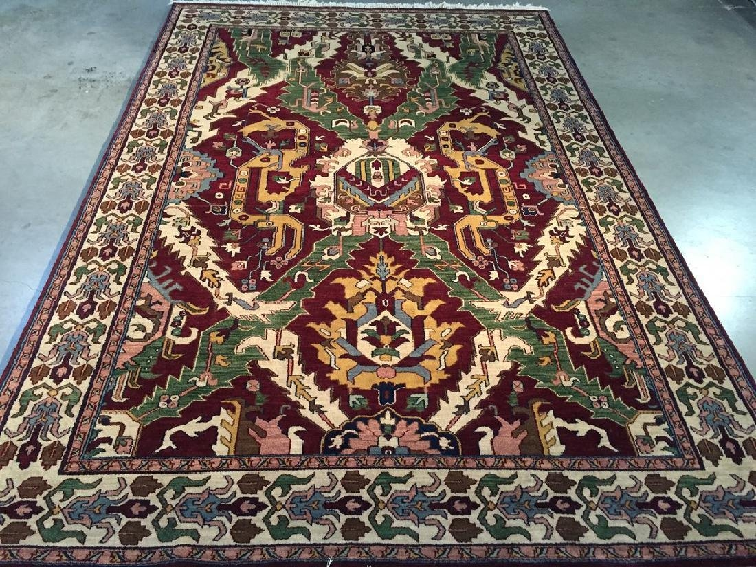 Hand Knotted Oushak Design Rug 6.1x9.1