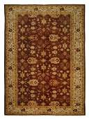 Vintage Mahal Rug Hand Knotted Wool Egyptian 10.1x13.8