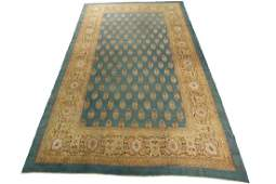 Antique Agra Rug Amritsar Green Oushak Tone Rug 10.8x16