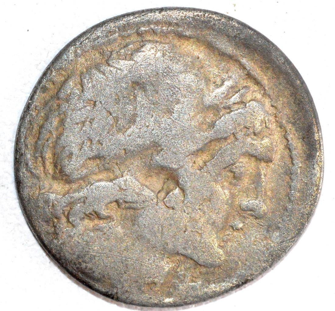 Roman Republican Silver Denarius, rv. Horsemen