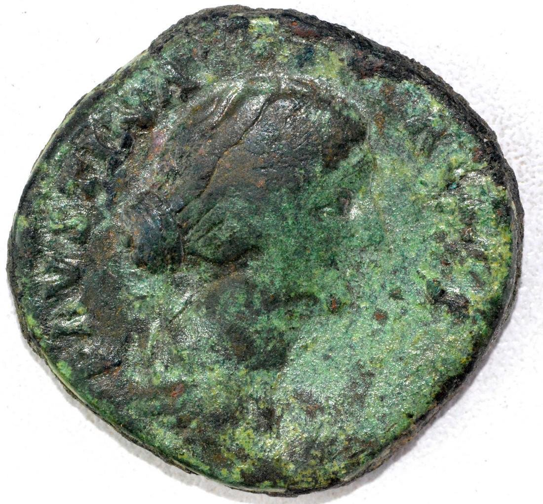 Ancient Roman Sestertius of Faustina Junior
