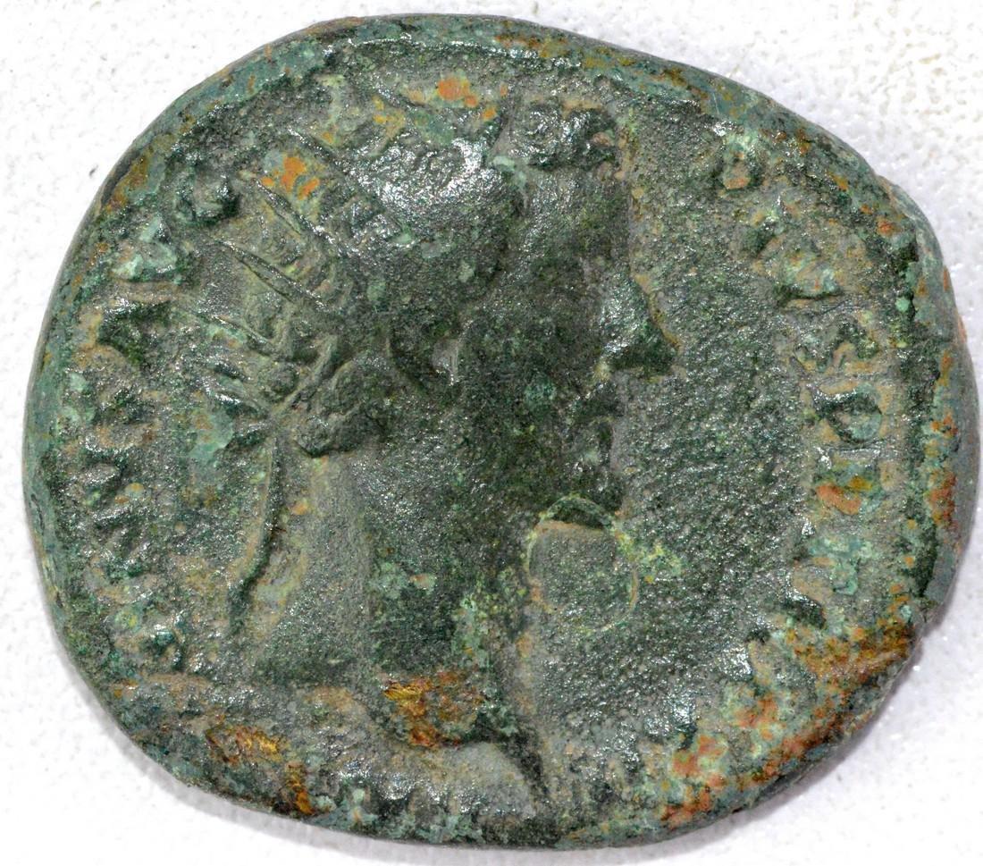 Ancient Roman Dupondius of Antoninus Pius