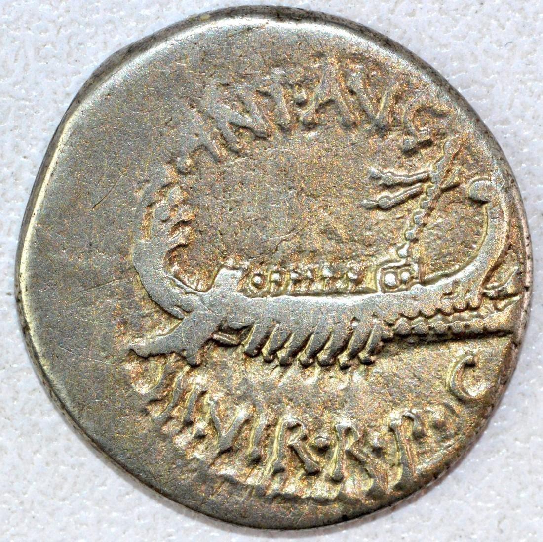 Ancient Roman Denarius of Mark Anthony
