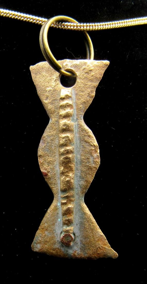 Ancient Roman Decorated Pendant with Snake