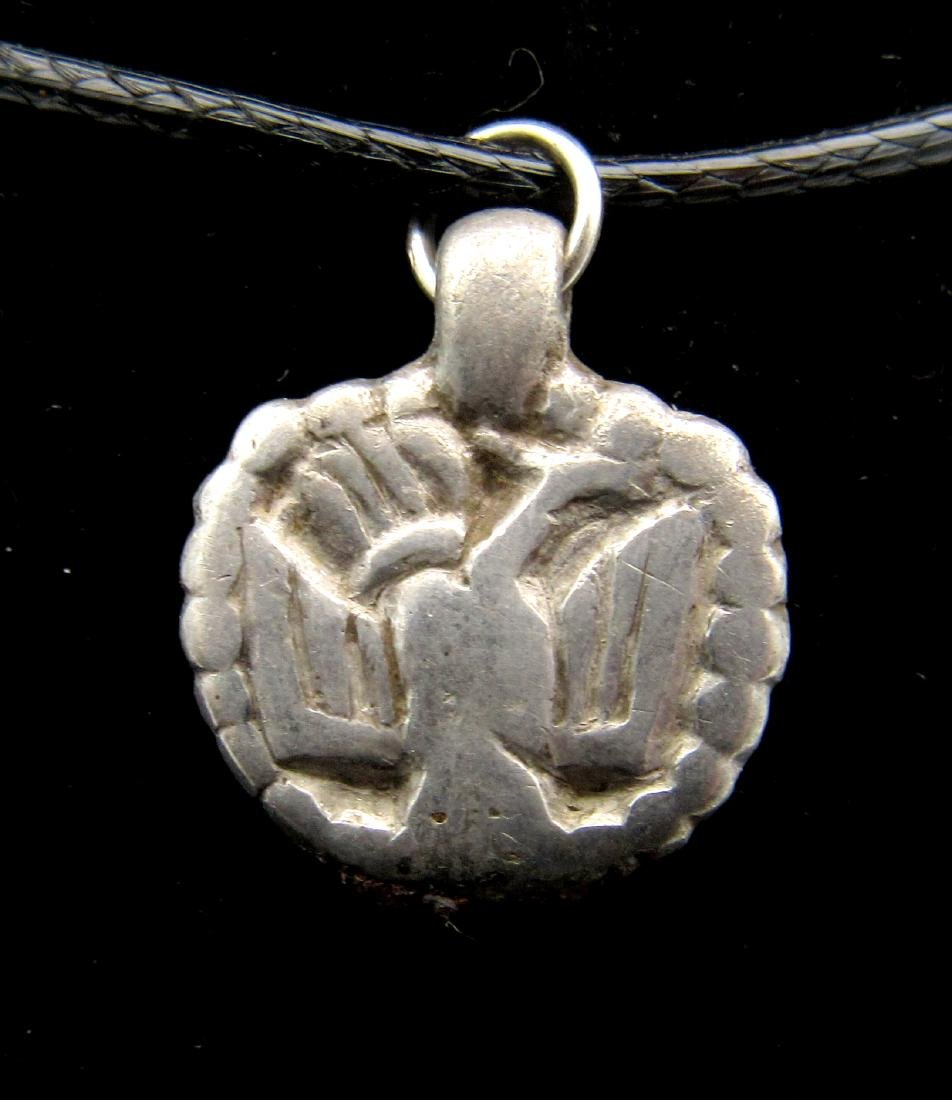Medieval Viking Silver Owl Pendant
