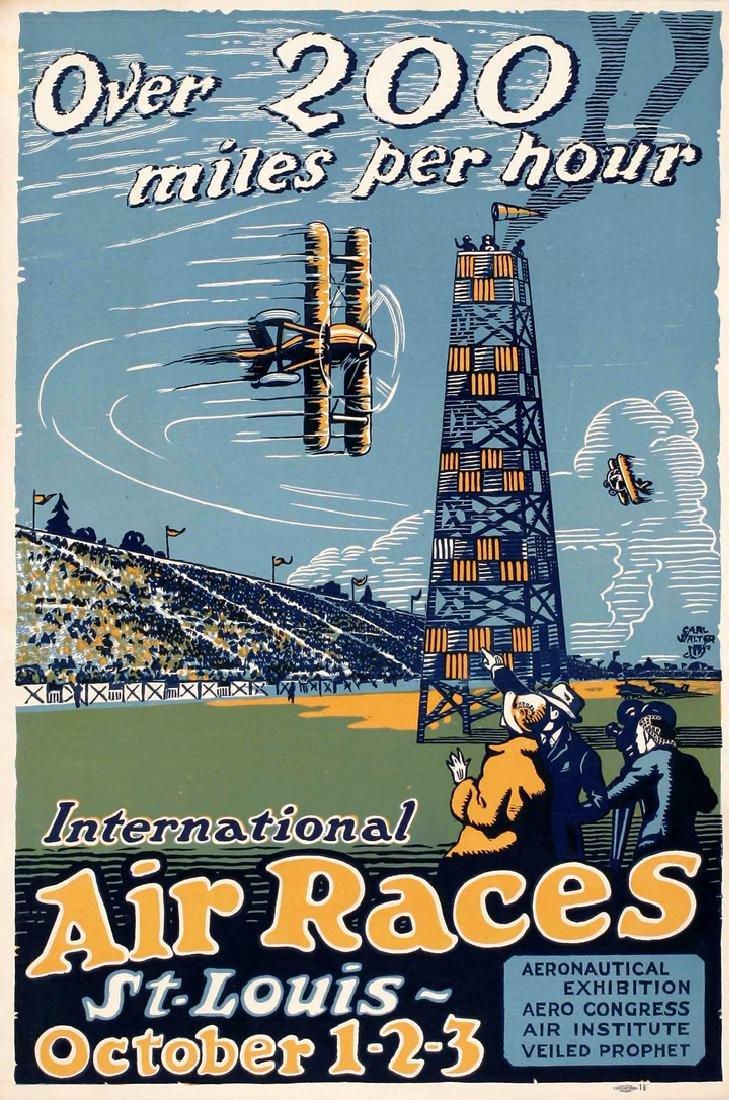 Original Vintage Poster International Air Races 1923