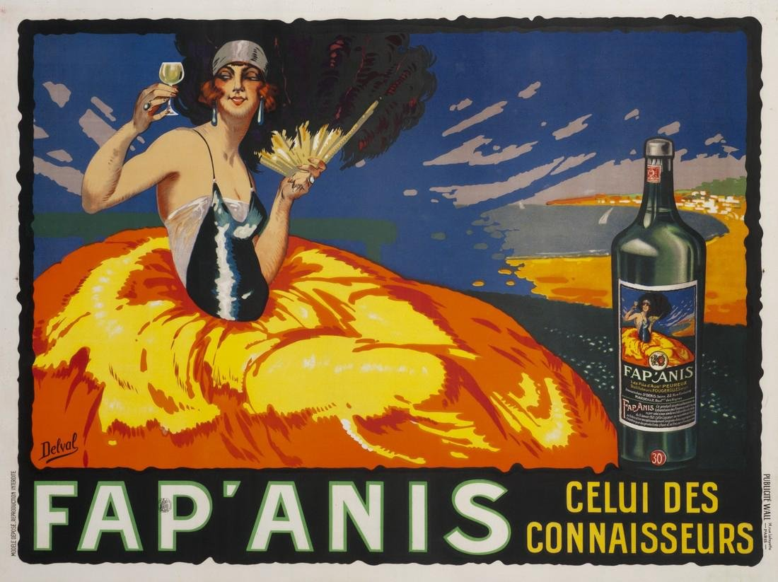 Original Vintage Poster Fap'Anis 1930 Art Deco