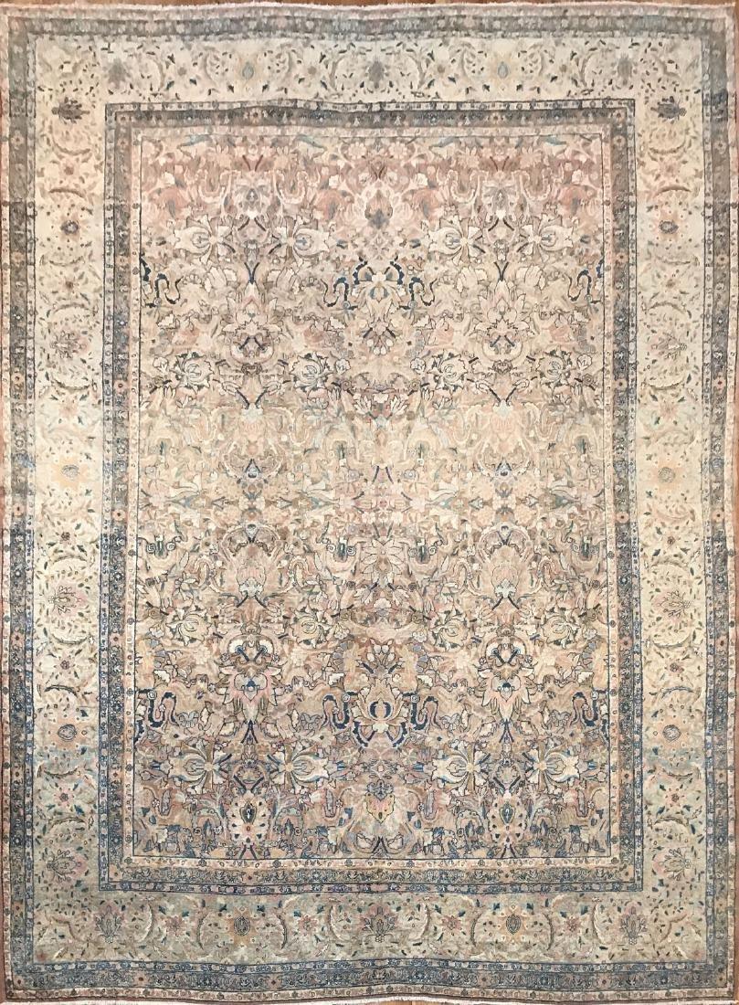Antique Persian Kerman Rug 8.8x11.7