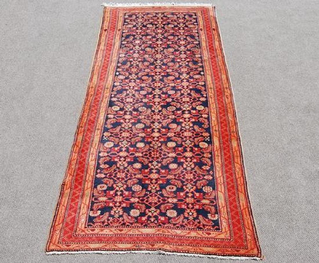 Semi Antique Hand Woven Persian Nahavand Rug 10.6x4.5