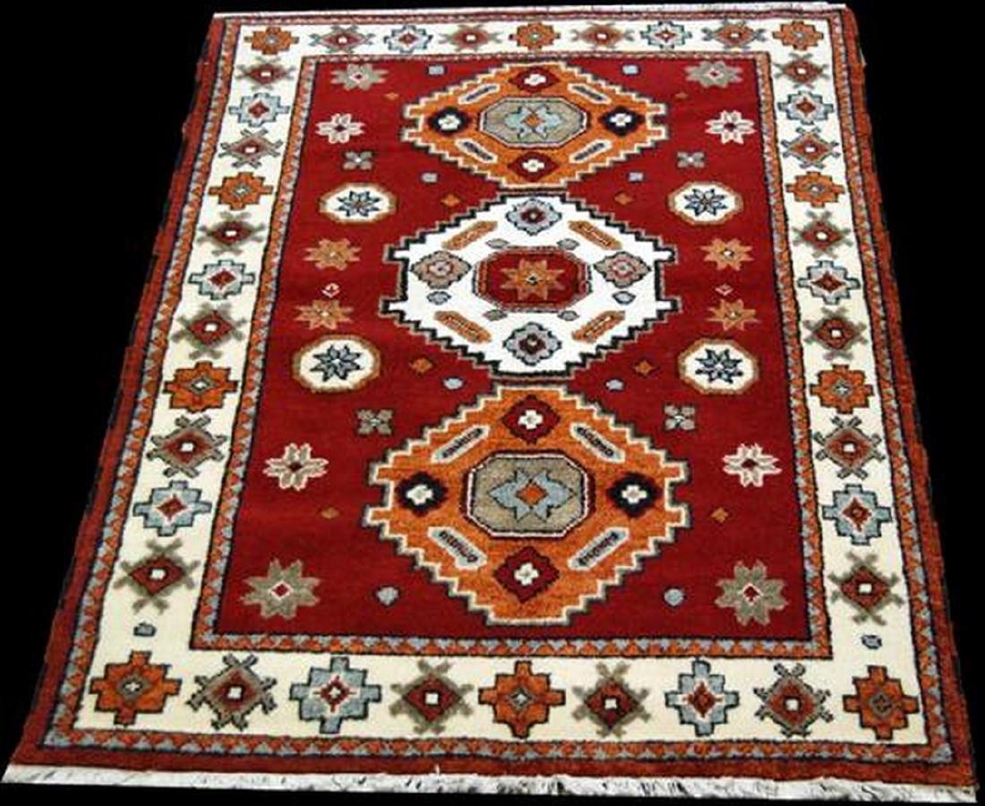 Hand Woven Wool Nepalese Rug 4x5.8