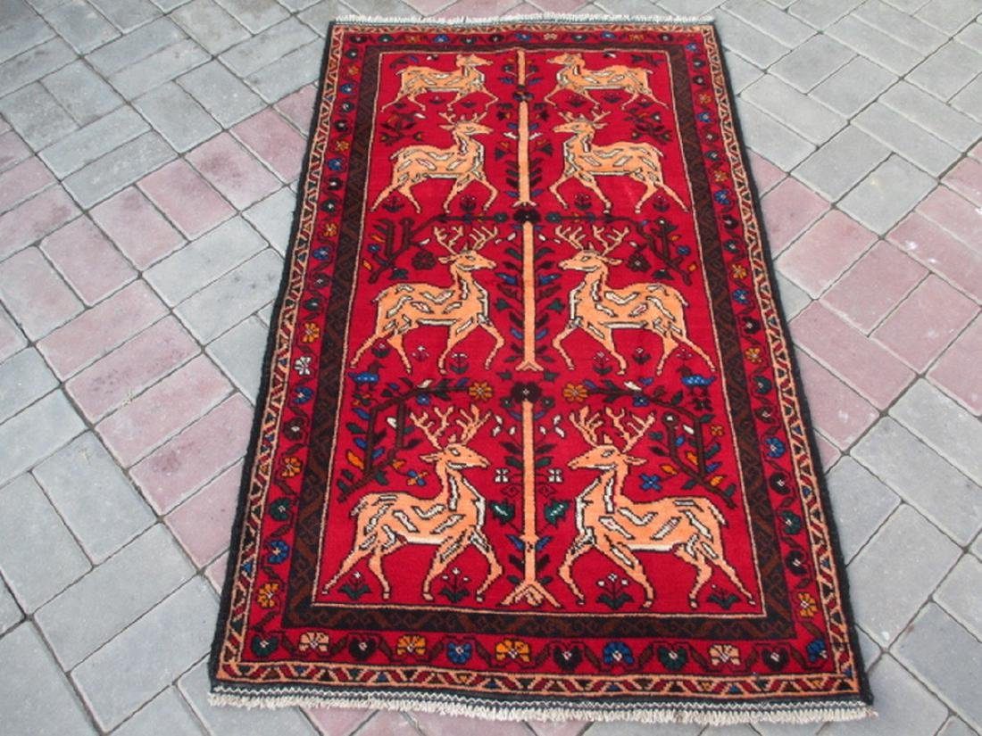 Baluchi Pictorial Rug 2.8x4.1