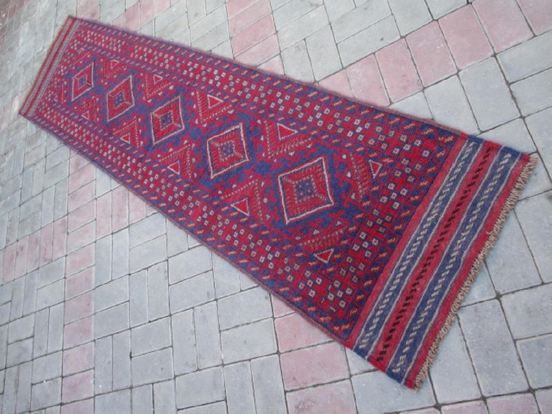 Tribal Hand knotted Meshwani Runner Rug 8.5x2.1