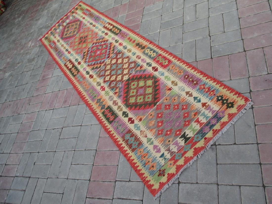 Hand Woven Chobi Kilim Runner Rug 2.4x8.3