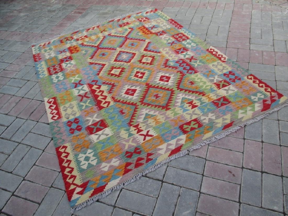 Hand Woven Chobi Kilim Rug 6.4x5