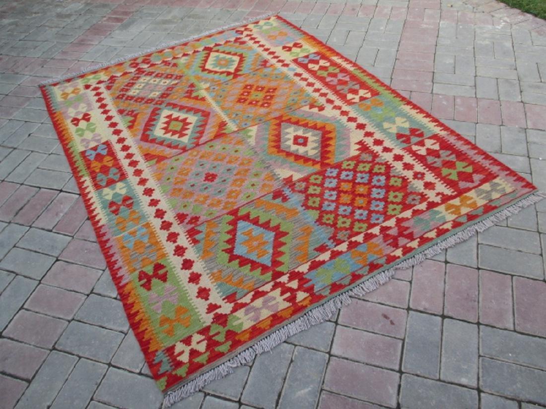 Hand Woven Chobi Kilim Rug 6.4x5.1