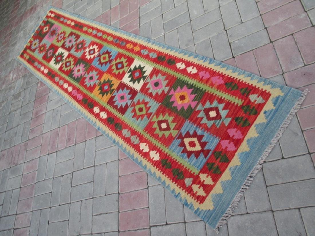 Hand Woven Chobi Kilim Runner Rug 9.6x2.3