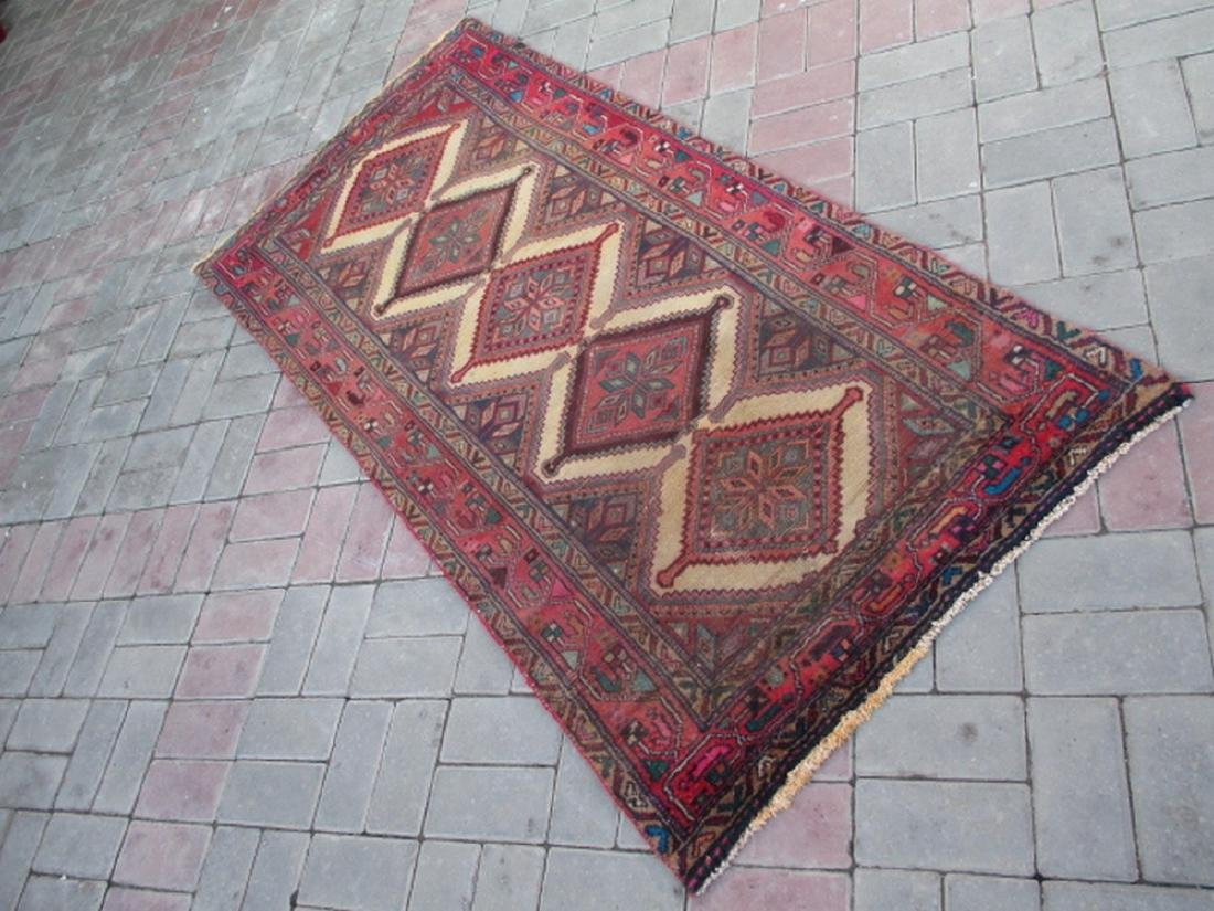 Semi Antique Hand Knotted Persian Rug 6.3x2.9