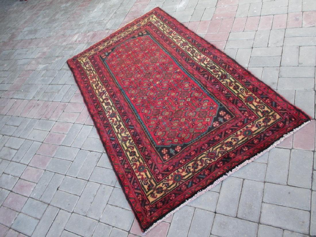 Semi Antique Hand Knotted Persian Rug 6.3x3.6