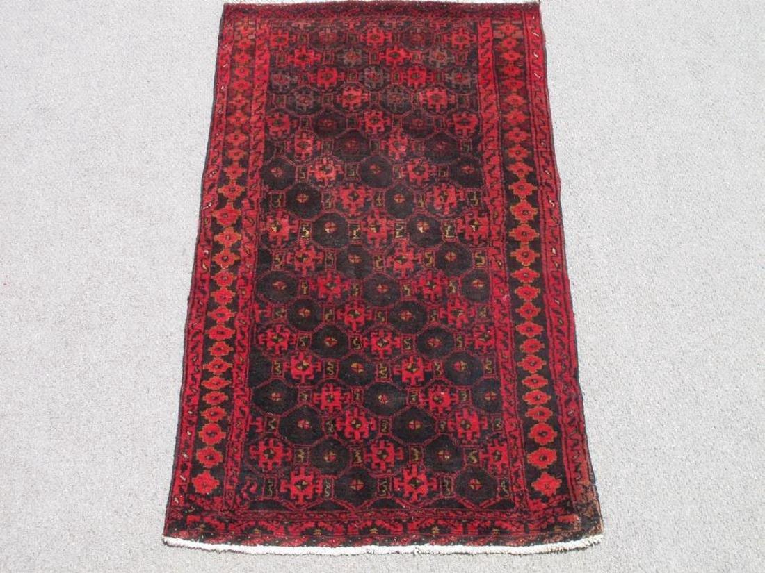 Semi Antique Persian Hamadan Rug 3.2x4.1