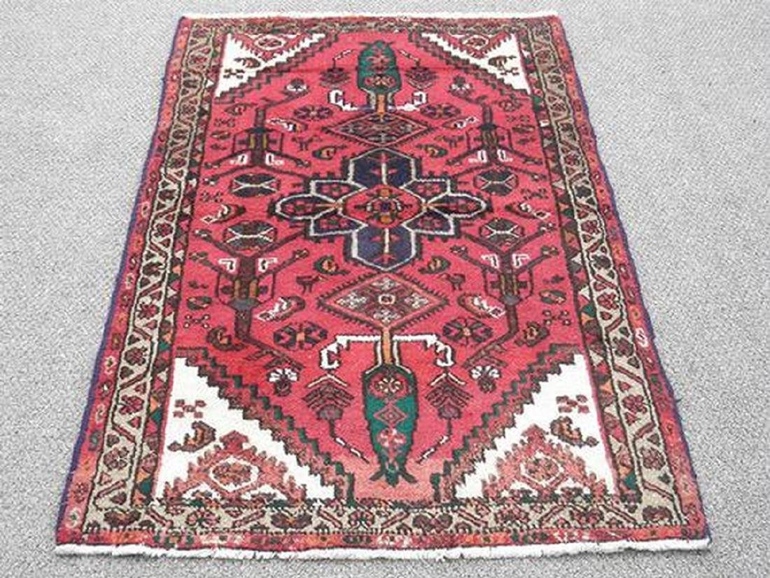 Hand Woven Persian Hamadan Rug 5.2x3.1