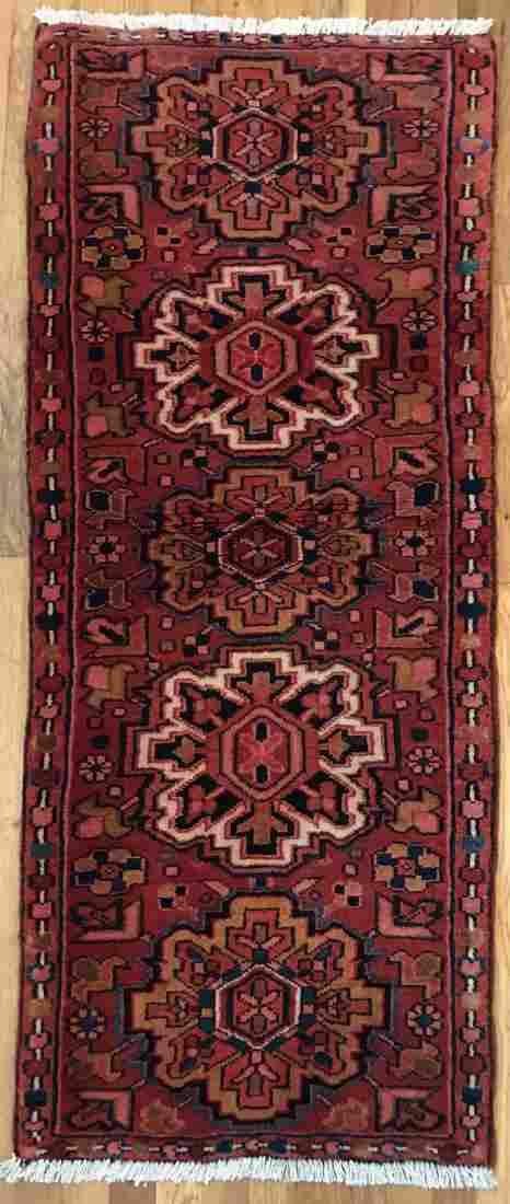 Antique Persian Heriz Rug 1.11x5