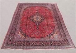 Vintage Persian Kashan Rug 12.11x9.5