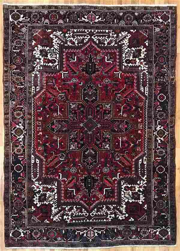 Antique Persian Heriz Rug 6.8x9.6